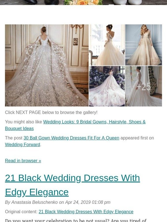 Weddingforward Posts From 30 Ball Gown Wedding Dresses Fit For A