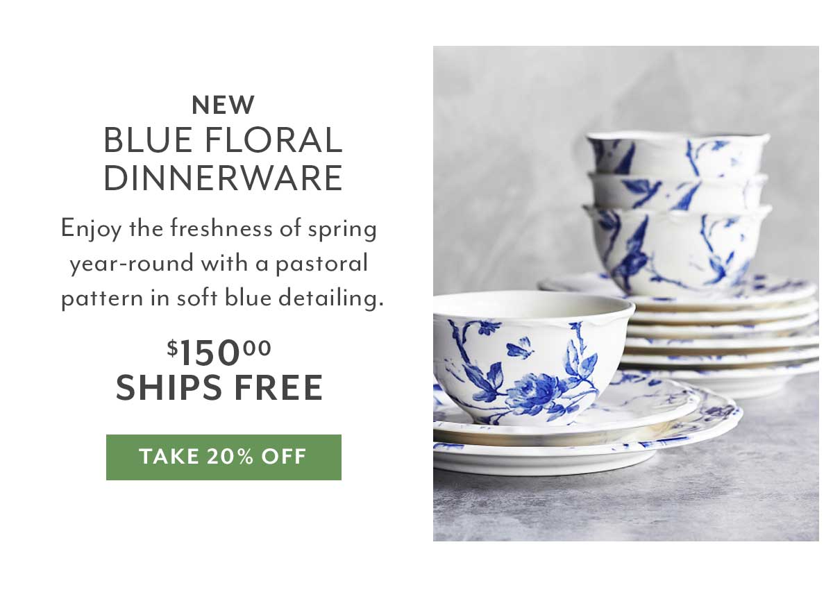 Blue Floral Set