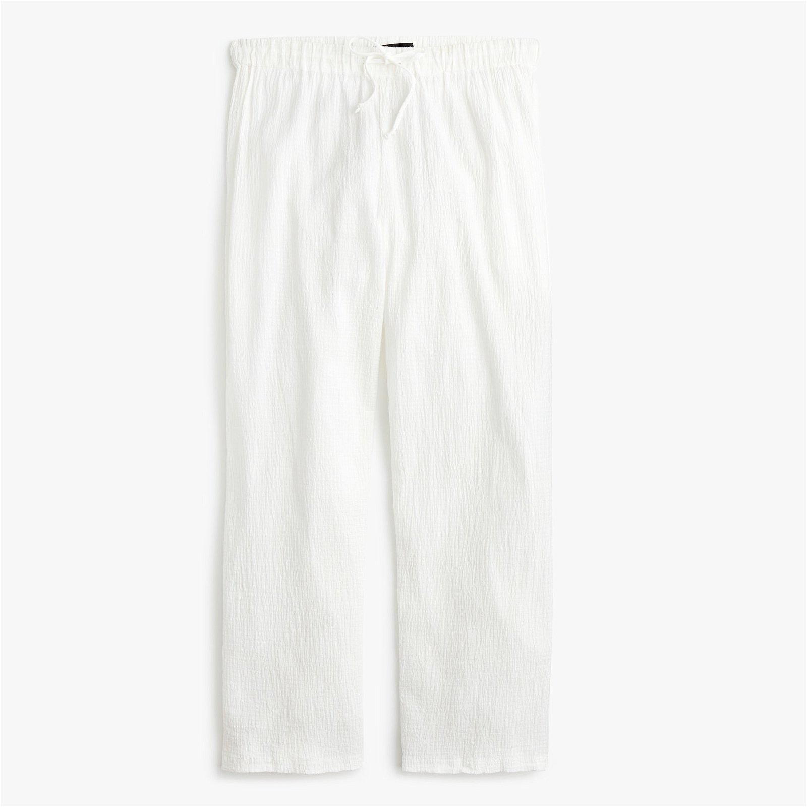 Drapey crinkle-cotton beach pant