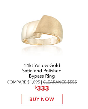 Gold Polished Bypass Ring. Buy Now