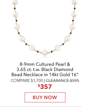 Pearl & Diamond Bead Necklace. Buy Now