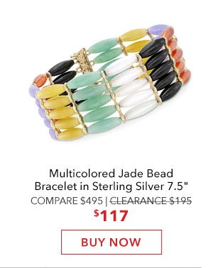 Multicolored Jade Bead Bracelet. Buy Now