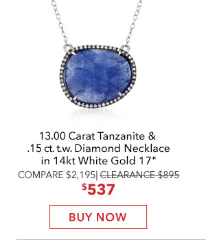 Tanzanite & Diamond Necklace. Buy Now