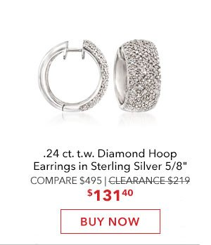 Diamond Hoop Earrings. Buy Now