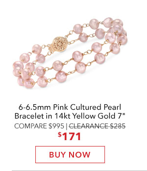 Pink Cultured Pearl Bracelet. Buy Now