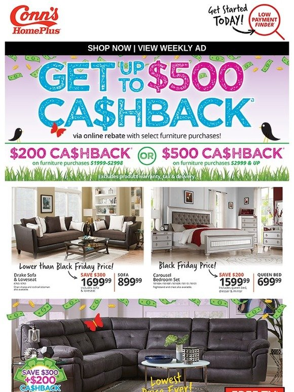 Awesome Conns Final Weekend For Up To 500 Cashback Ends Sunday Squirreltailoven Fun Painted Chair Ideas Images Squirreltailovenorg