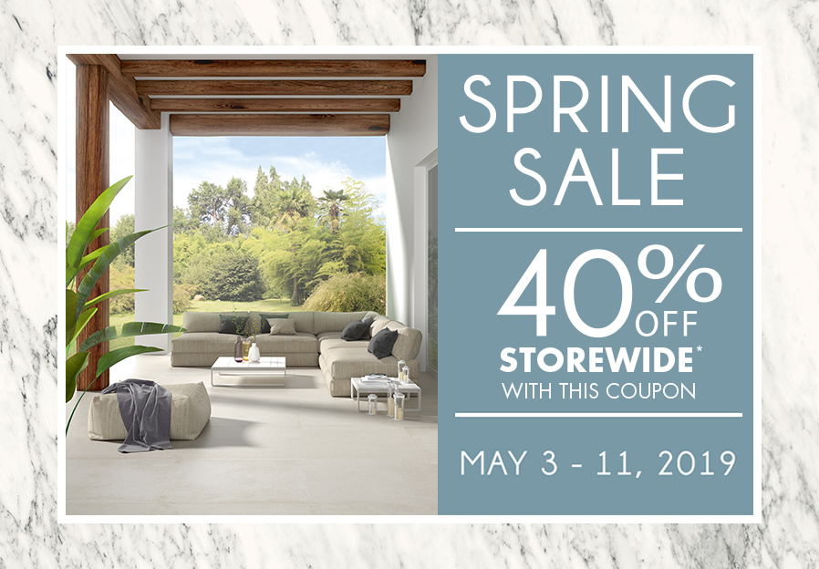 Porcelanosa: Our Spring Renovation Sale Starts May 3rd!   Milled