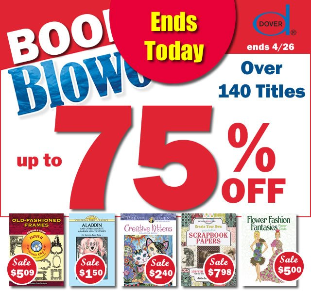 Book Blowout: Save Up to 75%