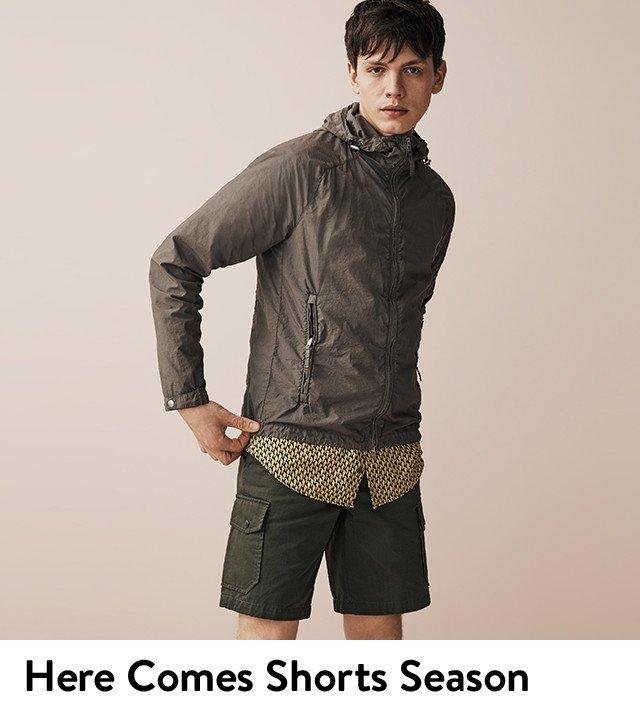 Here comes shorts season: men's shorts.