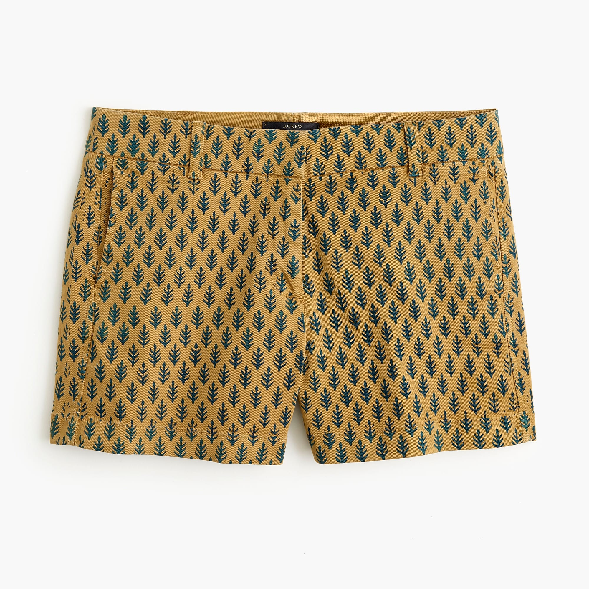 SZ Blockprints™ for J.Crew chino short in Neon Patti Leaf