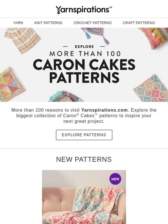 Yarnspirations: 102 Caron Cakes Patterns | Milled