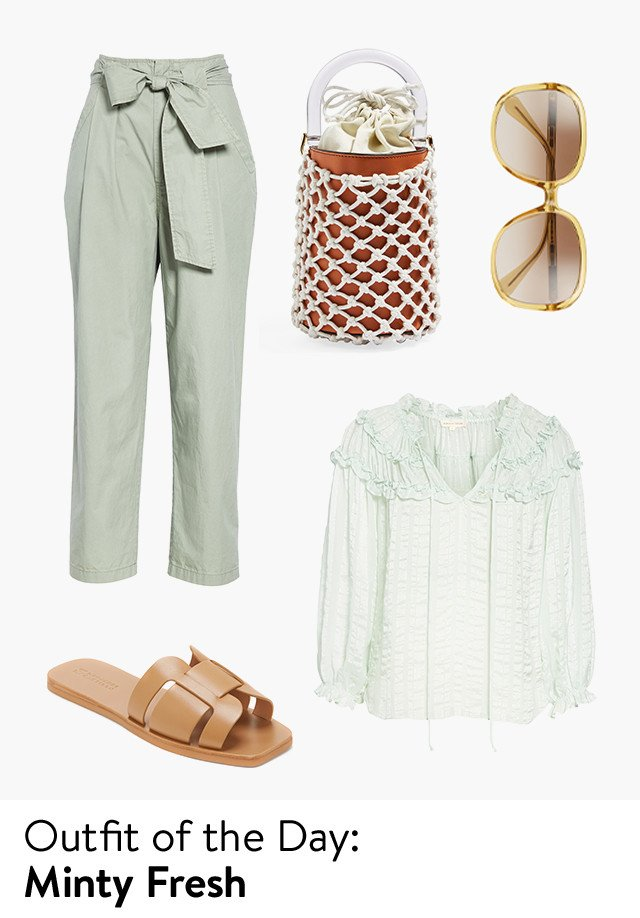 Outfit of the day: minty fresh.