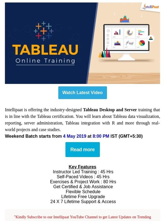 Intellipaat: Tableau Online Training | Milled