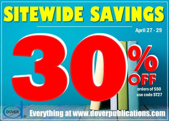 Sitewide Savings: 30% Off