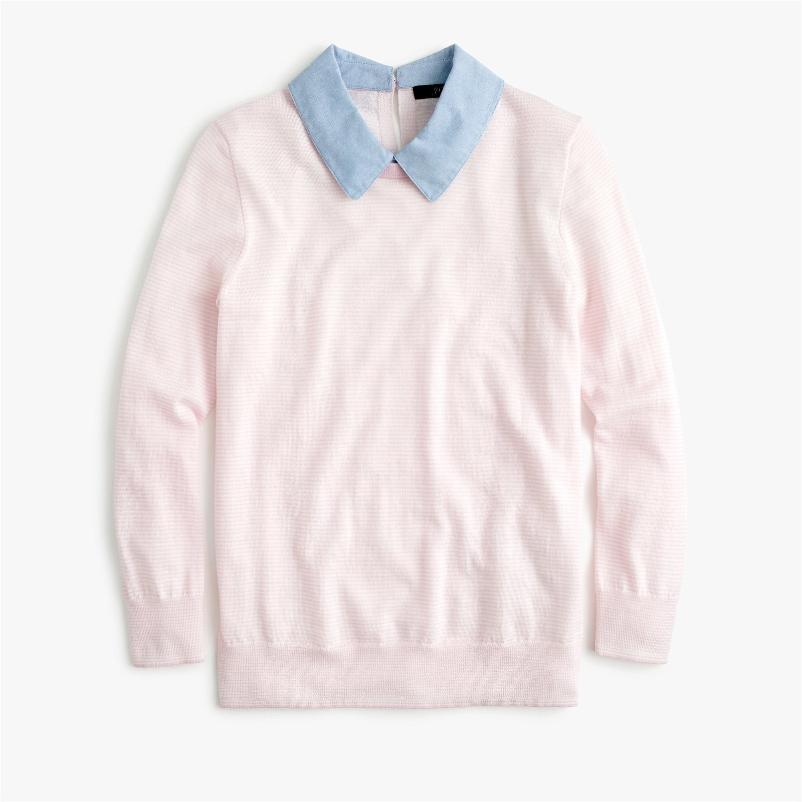 Tippi sweater with chambray collar