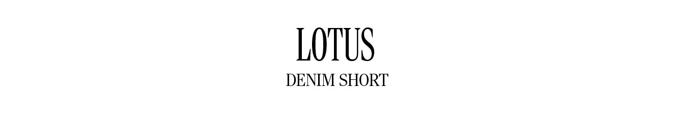 Lotus Denim Shorts