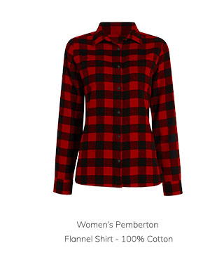 Women's Pemberton Flannel Shirt – 100% Cotton