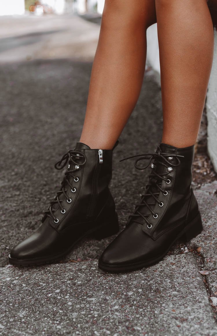 Therapy Ramona Boots Black Smooth