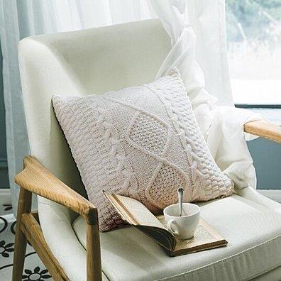 Crochet Knitting Flower Pillow Cases 18x18 Inch