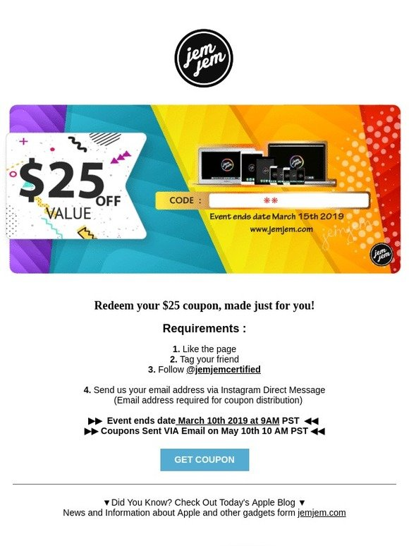 coupons sent to address