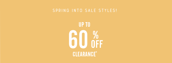 60% Off Clearance