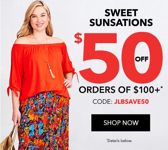 $50 Off Orders of $100+