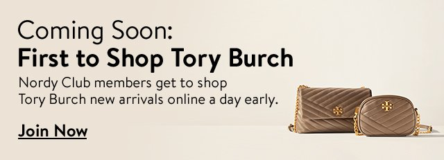 Coming soon: first to shop Tory Burch.