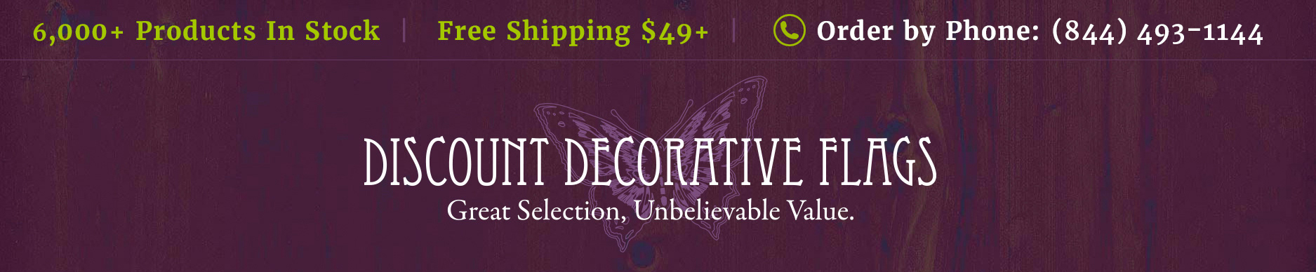 Discount Decorative Flags Your Coupon Inside Save Big On Briarwood Lane Milled