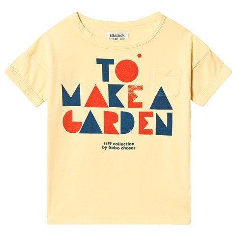 Bobo Choses Yellow Geometric Slogan T-Shirt