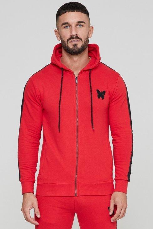 Adonis Scarlet Red Zip Hood