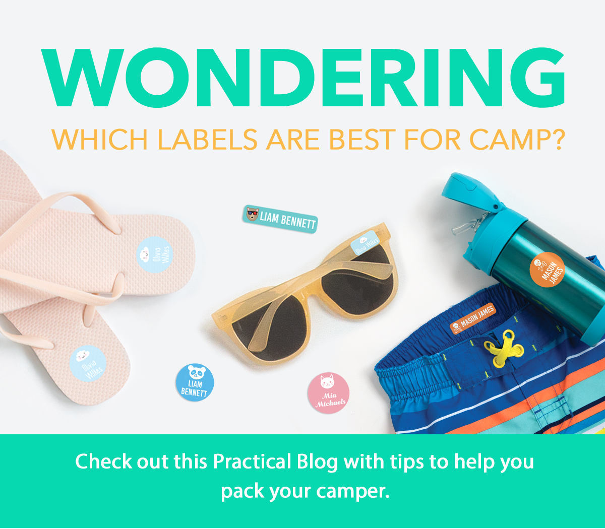 Blog with tips on which labels are best for camp and their uses.