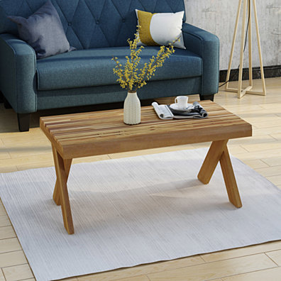 Estelle Indoor Farmhouse Acacia Wood Coffee Table