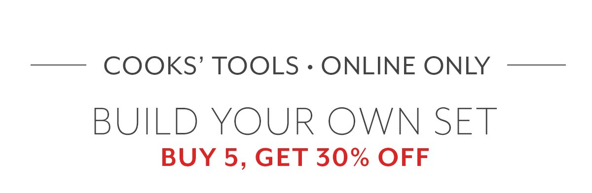 Cooks' Tools: Buy 5, Get 30% Off