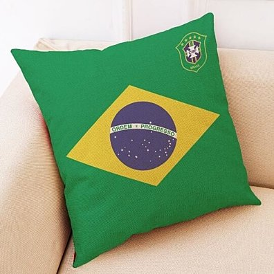 World Cup Country Pillow Cases 18x18 Inch
