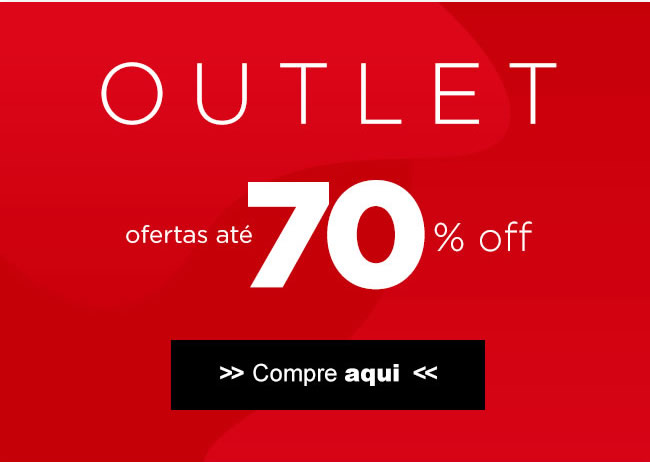 1bb2f3a850 Outlet - Ofertas até 70% OFF