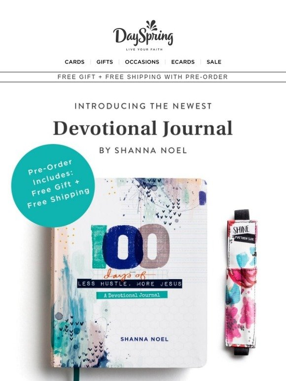 DaySpring: NEW 100 Days Devotional Journal - Pre-Order with