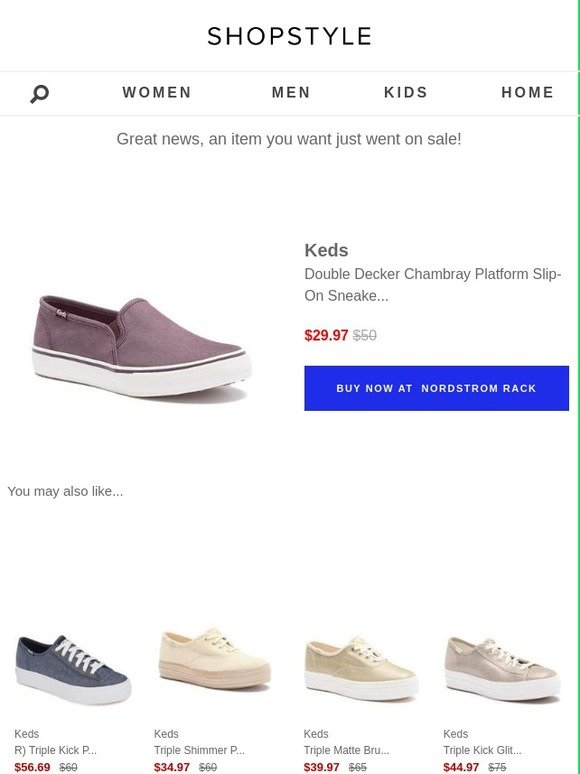 f78e2750128 ShopStyle  Sale Alert  Keds