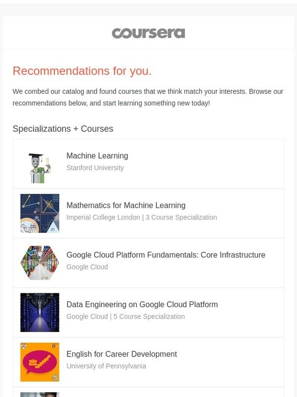 Coursera: Recommended: Machine Learning | Milled