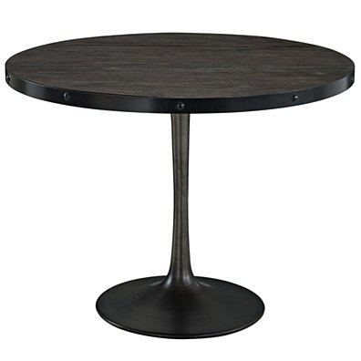Drive Wood Top Dining Table, EEI-1197-BLK-SET
