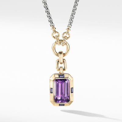 Novella Pendant with Amethyst and 18K Yellow Gold