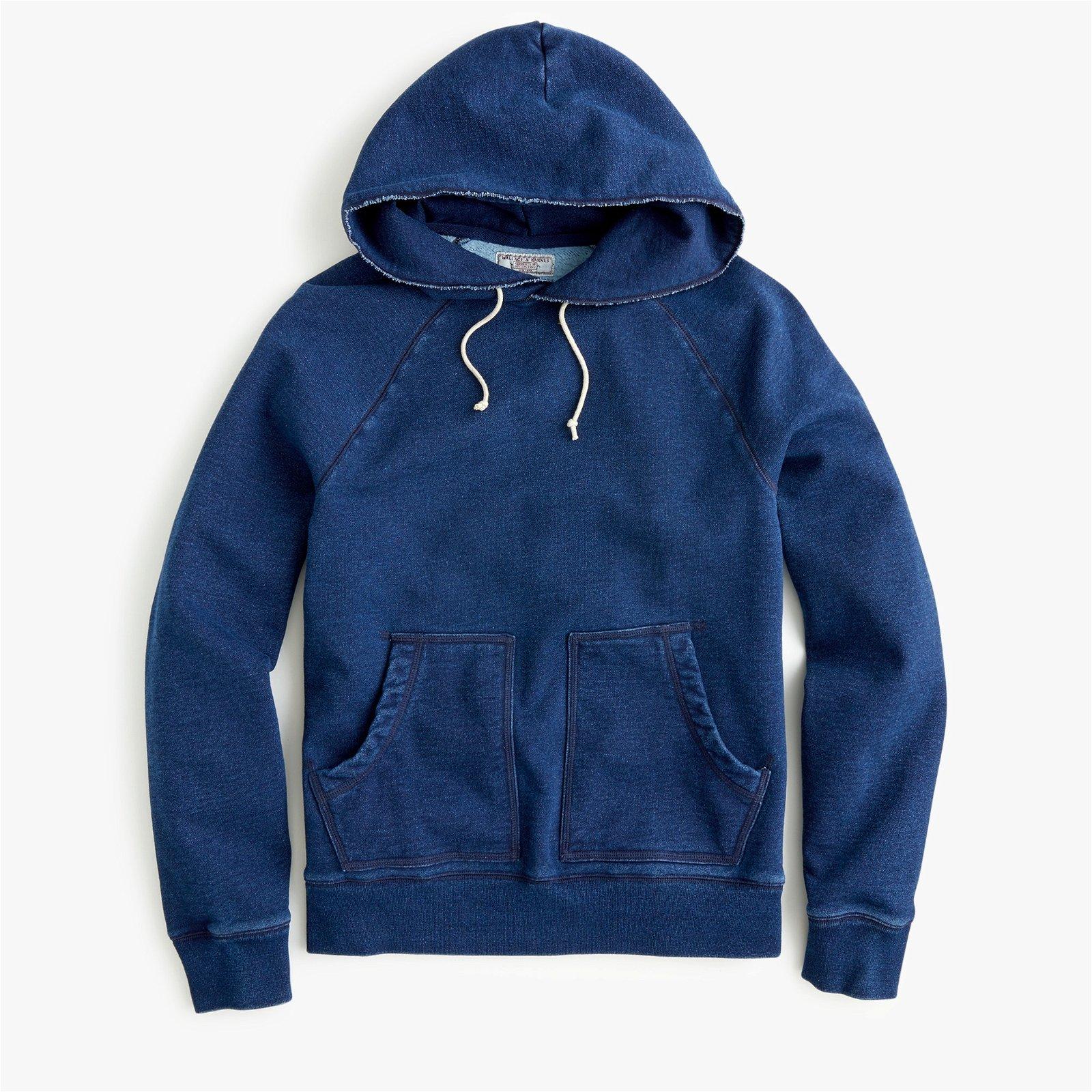 Wallace & Barnes fleece hoodie in indigo wash