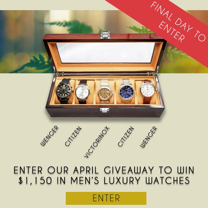 Enter to win $1150 in Our April Give-away