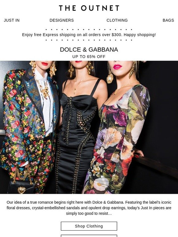 8de8206d The Outnet: Just In: Dolce & Gabbana at up to 65% off | Milled
