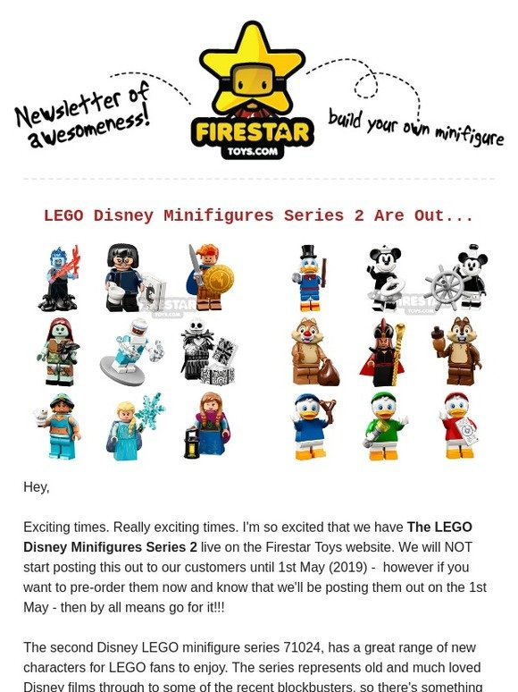 Firestar Toys: Disney Minifigures Series 2 Are Now Live