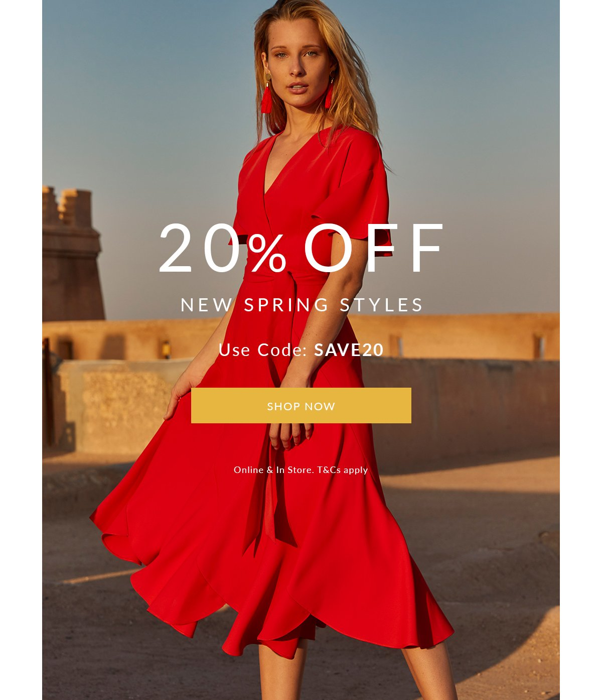 20% off new spring styles  | Shop Now