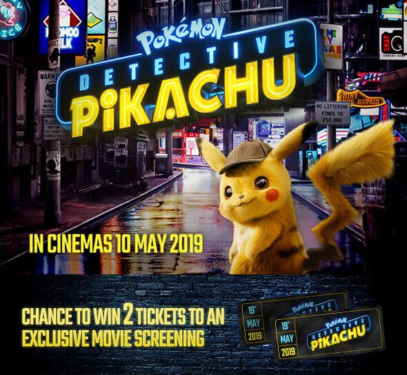 Nintendo Pokemon Detective Pikachu Movie Prize Draw Free Gift