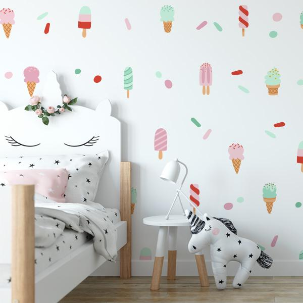 Image of Ice Cream Delight Wall Decal Set