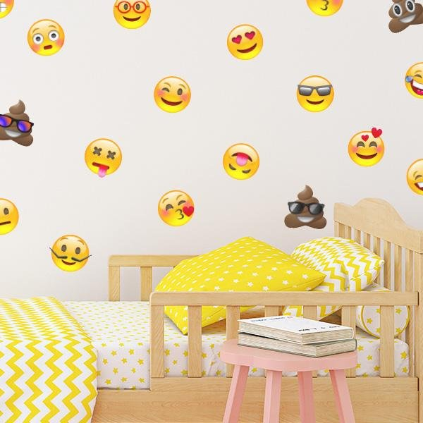 Image of Emoji Madness Wall Decals