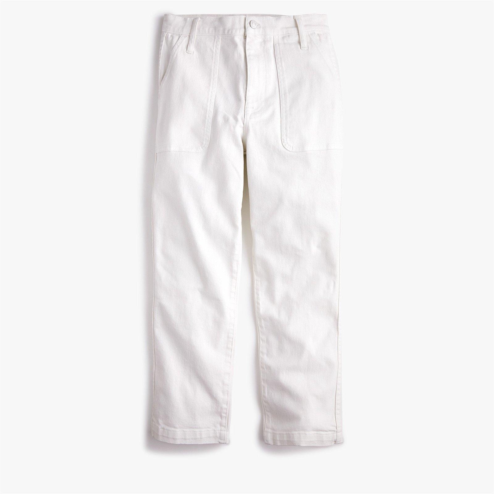Classic Straight-leg crop jean in garment-dyed denim