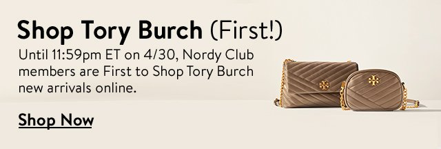 Shop Tory Burch (first!).